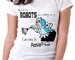 Blusa feminina baby look camiseta Jetson Can mine be Rosie