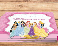 Convite Digital Princesas Disney
