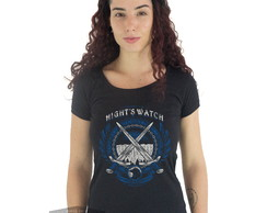 Camiseta Feminina Game Of Thrones Nightwatch Jon Snow Stark