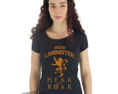 Camiseta Feminina Game Of Thrones House Lannister Cersei