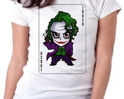 ... Blusa feminina baby look camiseta Coringa Palhaço Vilão Batm 8e674716976