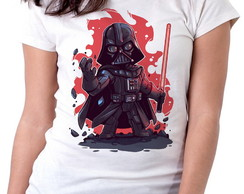 Blusa feminina baby look camiseta darth vader star wars