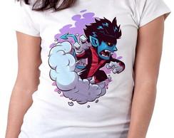 94e9ff1c79 Blusa feminina baby look camiseta Noturno X Men Mutante Azul no Elo7 ...