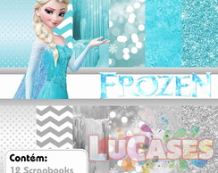 Kit Digital Frozen Elsa Azul E Prata