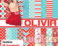 Kit Scrapbook Digital Olivia A Porca