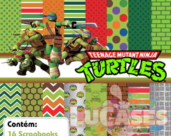 Kit Scrapbook Digital Tartarugas Ninja