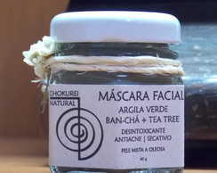 Máscara Facial | Argila Verde + Ban-Chá + Tea Tree .