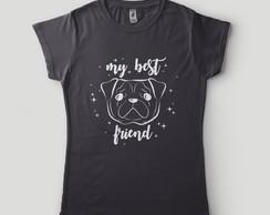 ... Camiseta Feminina Bulldog Francês Blusa Melhor amigo Cão Pet 1d32a6328e898