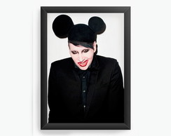 Quadro Decorativo Marilyn Manson cod378