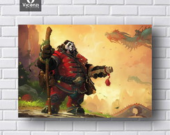 Placa Decorativa Panda Warcraft