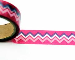 Washi Tape 15mm x 10m - geométrica rosa