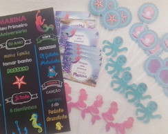 "Kit Festa Infantil personalizado ""Fundo do Mar"""