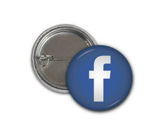 Botton Facebook - 2,5cm