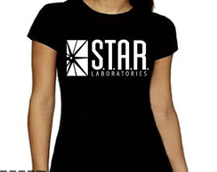 Camiseta Feminina The Flash Serie Star Laboratories Babylook