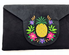 Clutch com Bordado Abacaxi LJ7