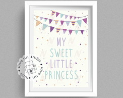 Poster Digital infantil A4 - my sweet little princess