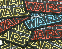 Patch Bordado Star Wars Logo Movies Filmes