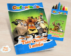 Kit colorir com giz de cera Madagascar