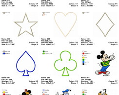 Matriz De Bordado Disney Personagens 42 Desenhos No Elo7