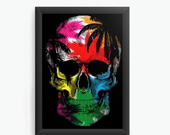Quadro Decorativo Skull Colorful cod396
