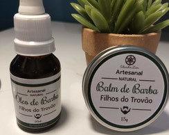 Kit Barba - Bálsamo (cera) e Óleo para Barba | Natural