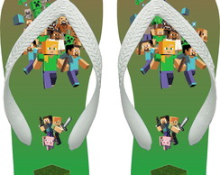 Chinelo Adulto Personalizado - Minecraft