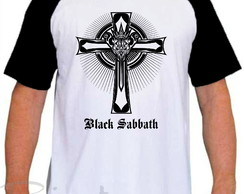 Camiseta Raglan Black Sabbath Banda de Rock Mod 02