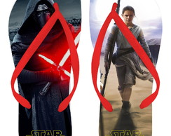 Chinelo Adulto Star Wars EP 7 Kylo Ren e Rey