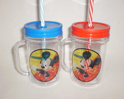 Caneca Mason Jar de 400ml - Mickey