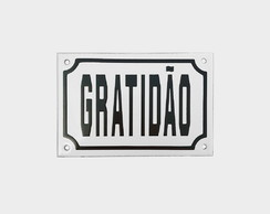 "Placa Decorativa ""GRATIDÃO"" 10x15"