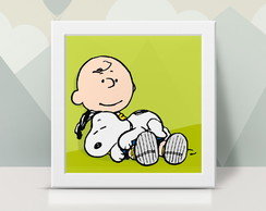 Quadrinho Decorativo Snoopy and Charlie