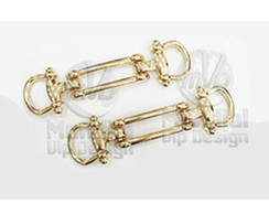 Piercing Cabedal para chinelo - passante - 100 pares