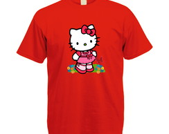 Camiseta Personalizada Vermelha Hello Kitty