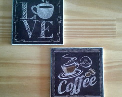 Conjunto c/ 2 imãs Love Coffee