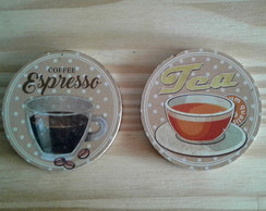 Conjunto c/ 2 imãs Tea and Coffee