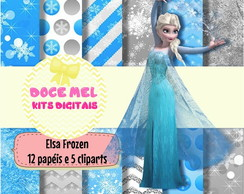 Kit Digital Elsa Frozen