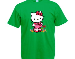 Camiseta Personalizada Verde Hello Kitty
