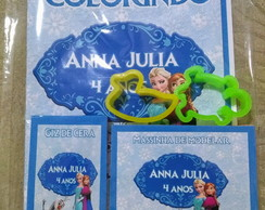 Kit de colorir com massinha Frozen