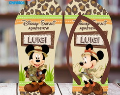 Chinelo Personalizado Mickey Safari 2