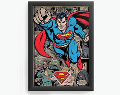 Quadro Decorativo Superman Heroi cod644