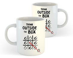 Caneca Think Outside The Box - Frases Divertidas