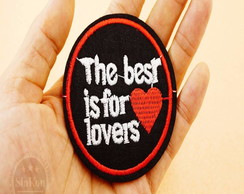 Patches The Best Is For Love/adesivos Termo Colantes