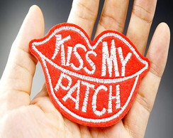 Patches Kiss My Patch/adesivos Termo Colantes