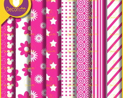 Papel digital Rosa (Kit 39)