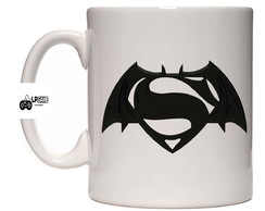 Caneca porcelana Batman x Super Man