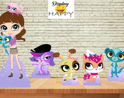 Kit Littlest Pet Shop em mdf