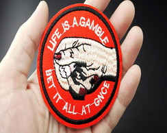Patches Life Is A Gamble/adesivos Termo Colantes