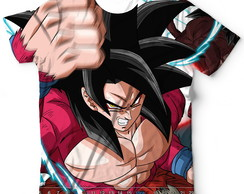 Camisa Full Print Goku Xeno SSJ 4 Super Dragon Ball Heroes