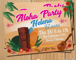 Convite digital Hawaii Luau Mod.003