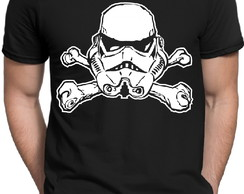 Camiseta Preta Geek Star Wars Stormtrooper Darth Vader